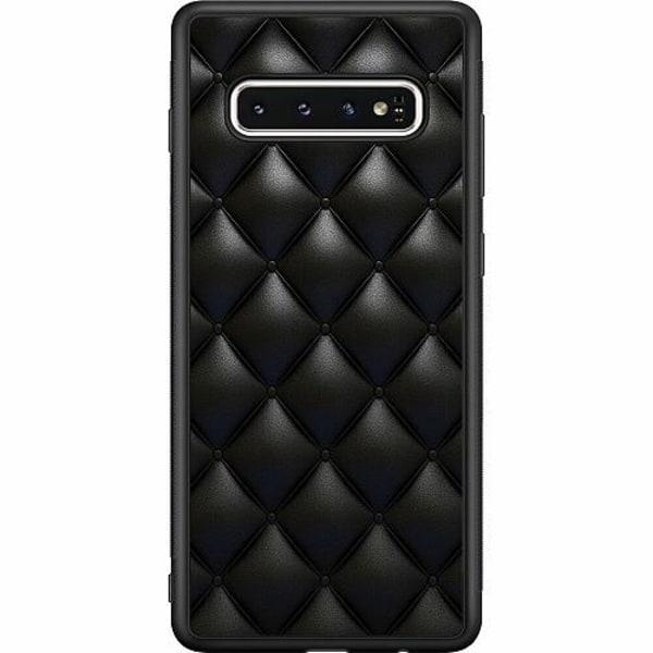 Samsung Galaxy S10 Soft Case (Svart) Leather Black
