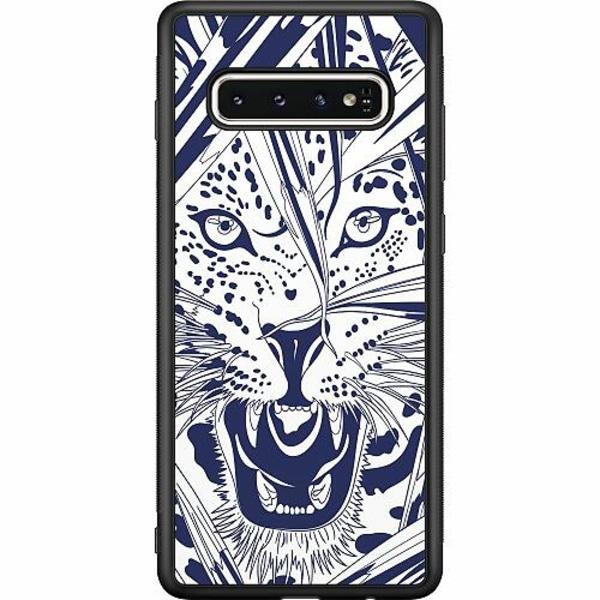 Samsung Galaxy S10 Soft Case (Svart) Manga Tiger