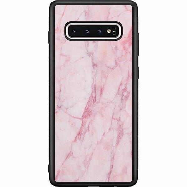 Samsung Galaxy S10 Soft Case (Svart) Marmor