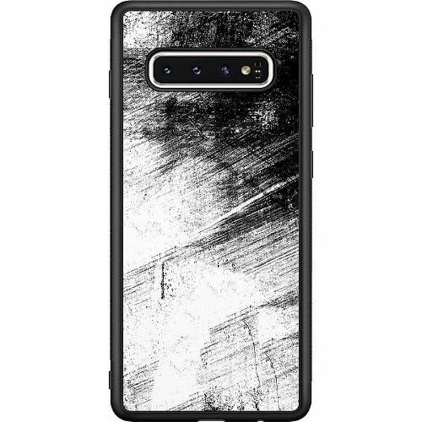 Samsung Galaxy S10 Soft Case (Svart) Mönster