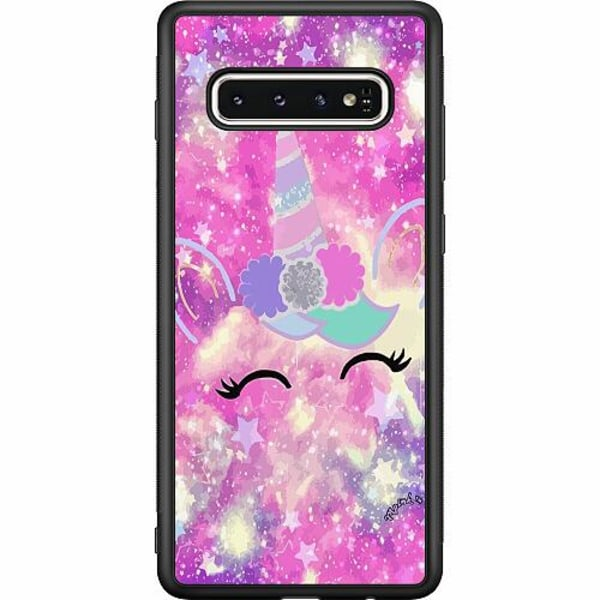 Samsung Galaxy S10 Soft Case (Svart) UNICORN