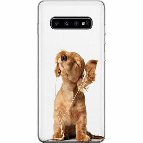 Samsung Galaxy S10 Plus Mjukt skal - Hund