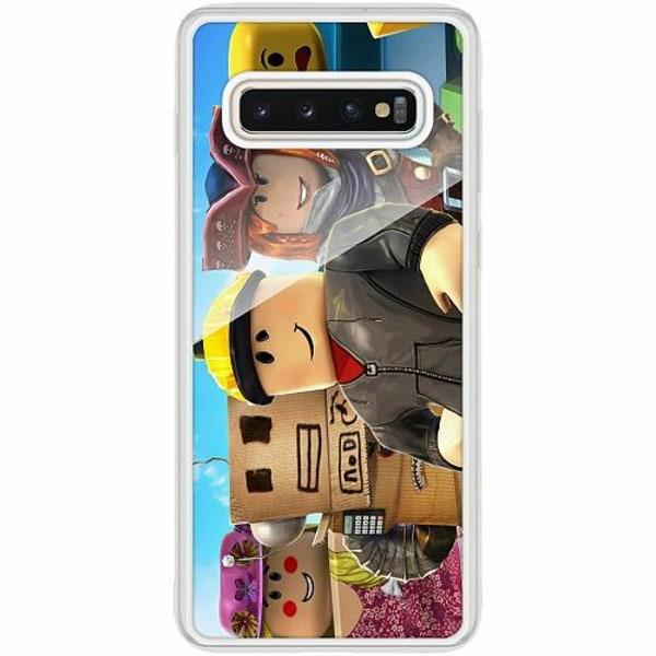 Samsung Galaxy S10 Plus Transparent Mobilskal med Glas Roblox