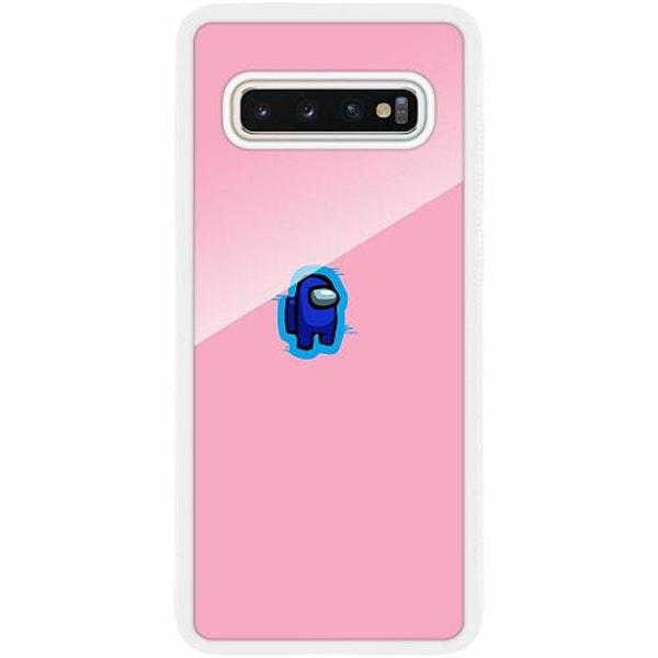 Samsung Galaxy S10 Plus Vitt Mobilskal med Glas Among Us