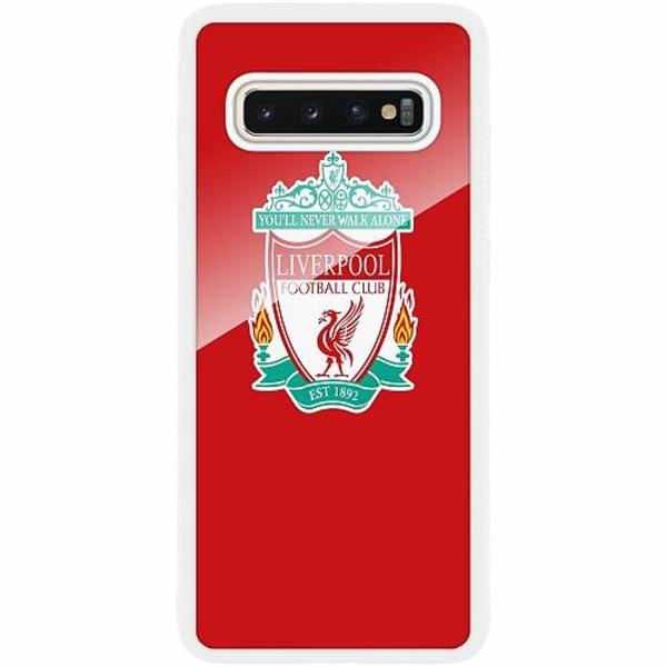 Samsung Galaxy S10 Plus Vitt Mobilskal med Glas Liverpool