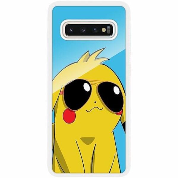 Samsung Galaxy S10 Plus Vitt Mobilskal med Glas Pokemon
