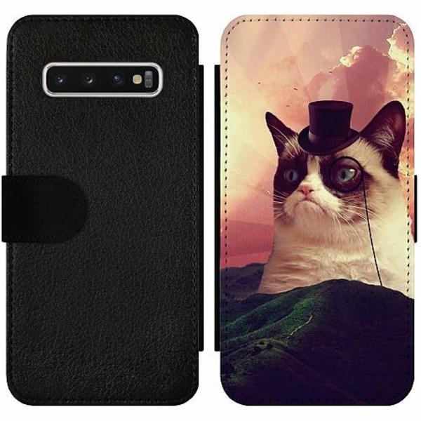 Samsung Galaxy S10 Wallet Slim Case Cat Af Grund