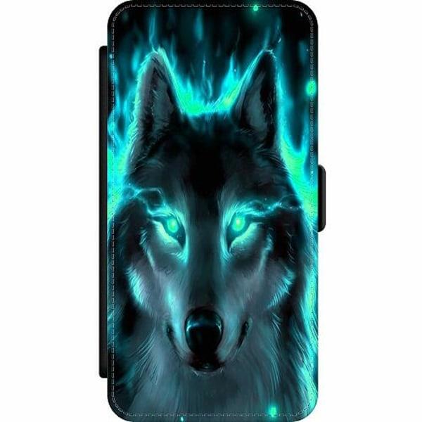 Samsung Galaxy S9+ Wallet Slim Case Statement Wolf 1055