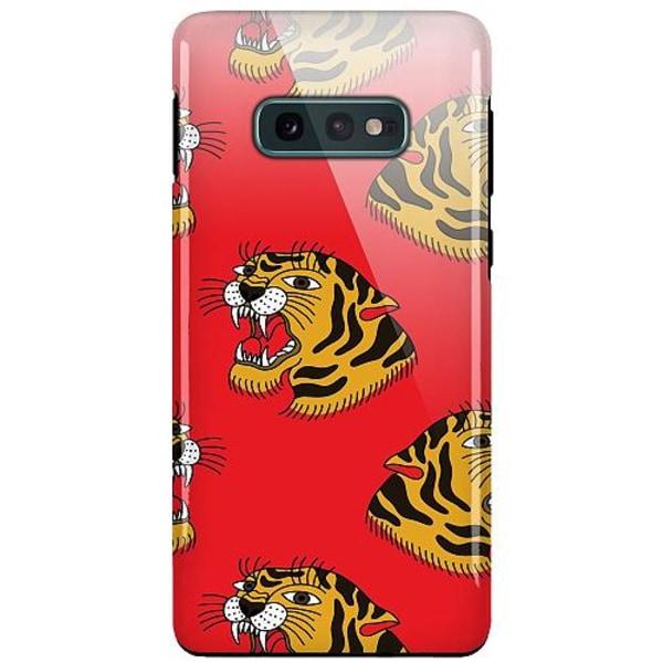 Samsung Galaxy S10e LUX Duo Case (Glansig)  Red Tiger