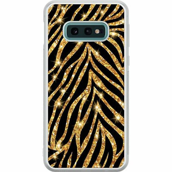 Samsung Galaxy S10e Soft Case (Frostad) Gold & Glitter