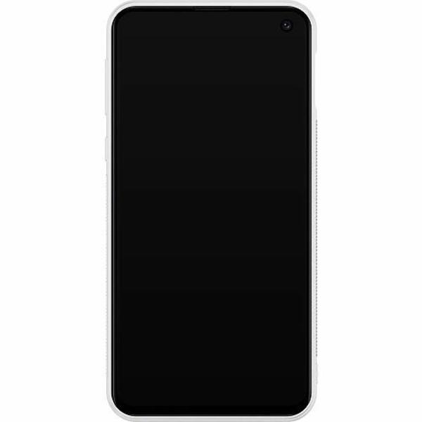Samsung Galaxy S10e Soft Case (Vit) Bokstäver