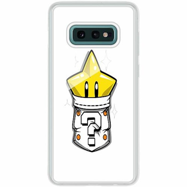 Samsung Galaxy S10e Transparent Mobilskal med Glas Super Star