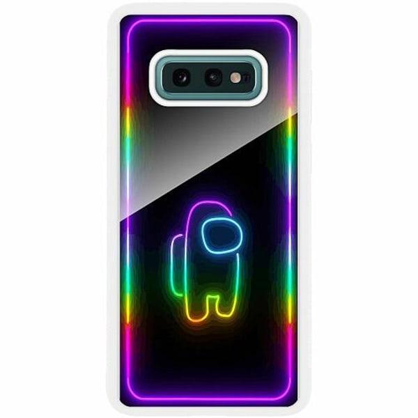 Samsung Galaxy S10e Vitt Mobilskal med Glas Among Us 2021