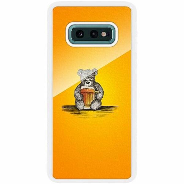 Samsung Galaxy S10e Vitt Mobilskal med Glas Öl