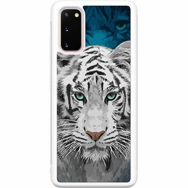 Samsung Galaxy S20 Soft Case (Vit) Be Wary Of The White Tiger