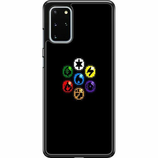 Samsung Galaxy S20 Plus Hard Case (Svart) Pixel art Pokémon