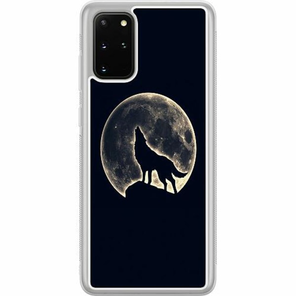 Samsung Galaxy S20 Plus Soft Case (Frostad) Howling Moon Wolf