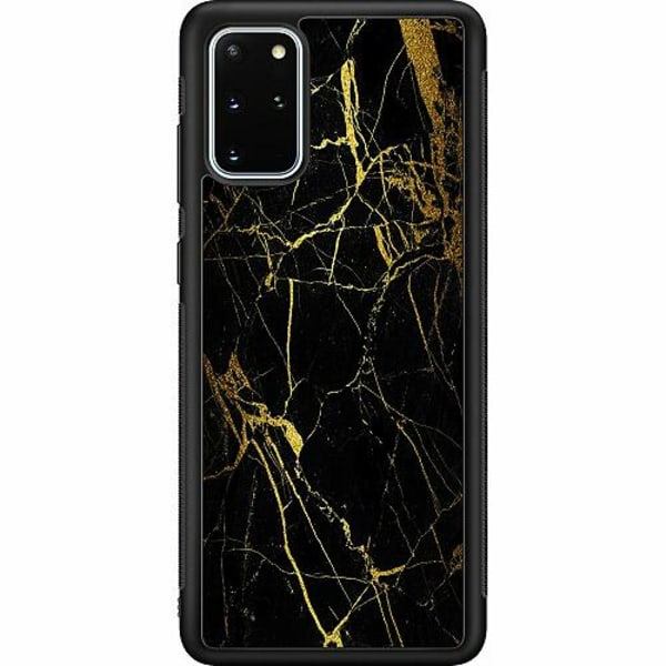 Samsung Galaxy S20 Plus Soft Case (Svart) Marmor