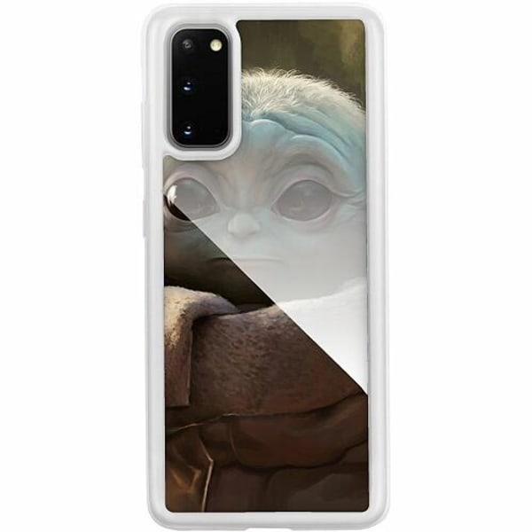 Samsung Galaxy S20 Transparent Mobilskal med Glas Baby Yoda