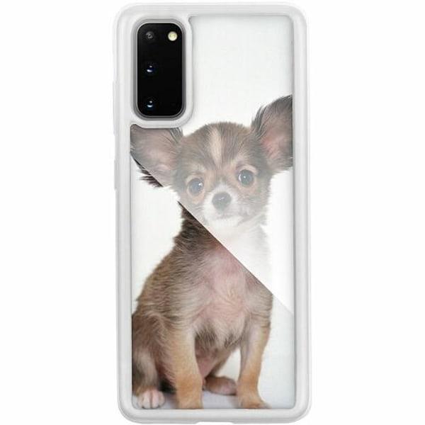 Samsung Galaxy S20 Transparent Mobilskal med Glas Chihuahua