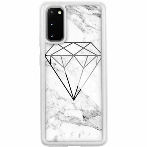 Samsung Galaxy S20 Transparent Mobilskal med Glas Diamant