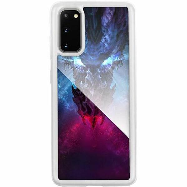 Samsung Galaxy S20 Transparent Mobilskal med Glas Drake