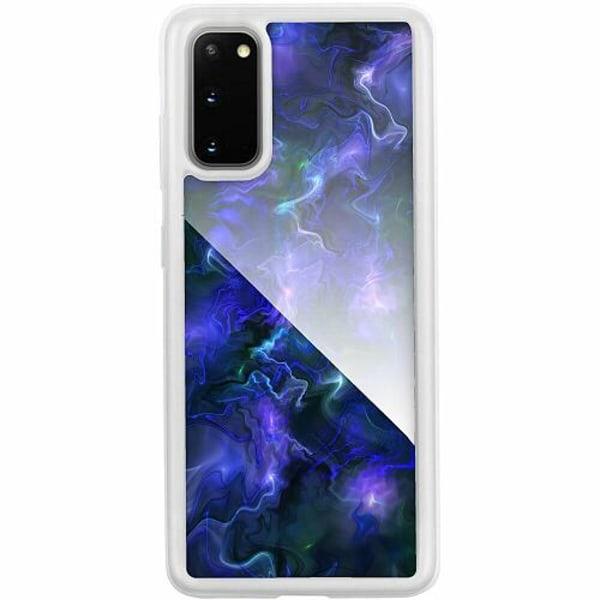 Samsung Galaxy S20 Transparent Mobilskal med Glas Färger
