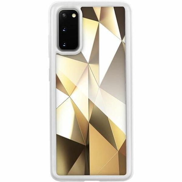 Samsung Galaxy S20 Transparent Mobilskal med Glas Golden Pattern