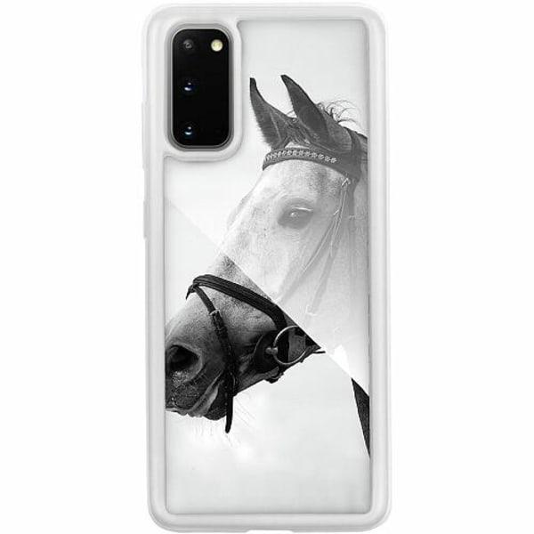 Samsung Galaxy S20 Transparent Mobilskal med Glas Häst