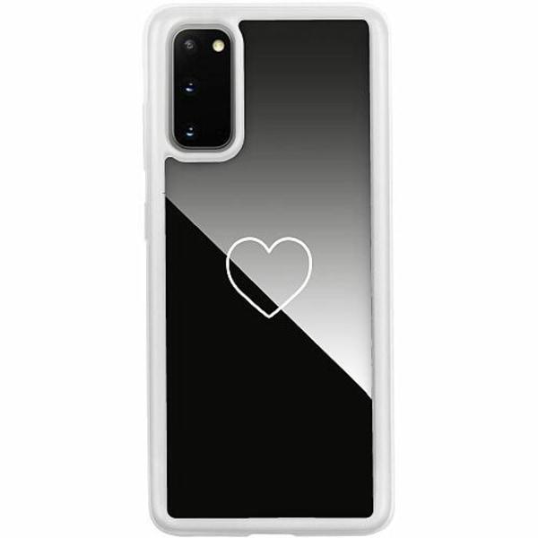 Samsung Galaxy S20 Transparent Mobilskal med Glas Hjärta
