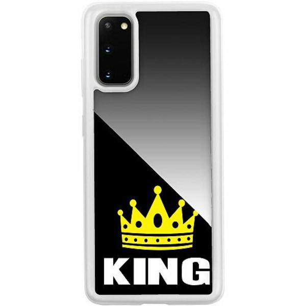 Samsung Galaxy S20 Transparent Mobilskal med Glas King 01