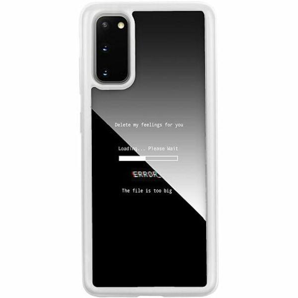 Samsung Galaxy S20 Transparent Mobilskal med Glas Loading