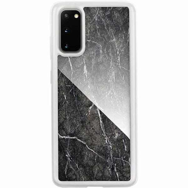Samsung Galaxy S20 Transparent Mobilskal med Glas Marmor