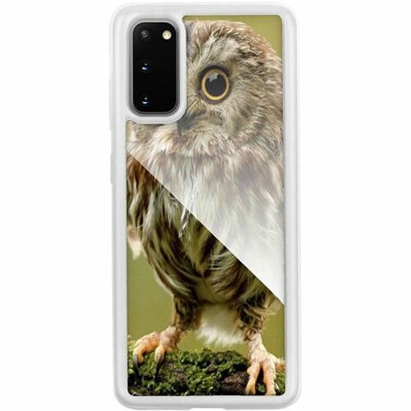 Samsung Galaxy S20 Transparent Mobilskal med Glas Owl