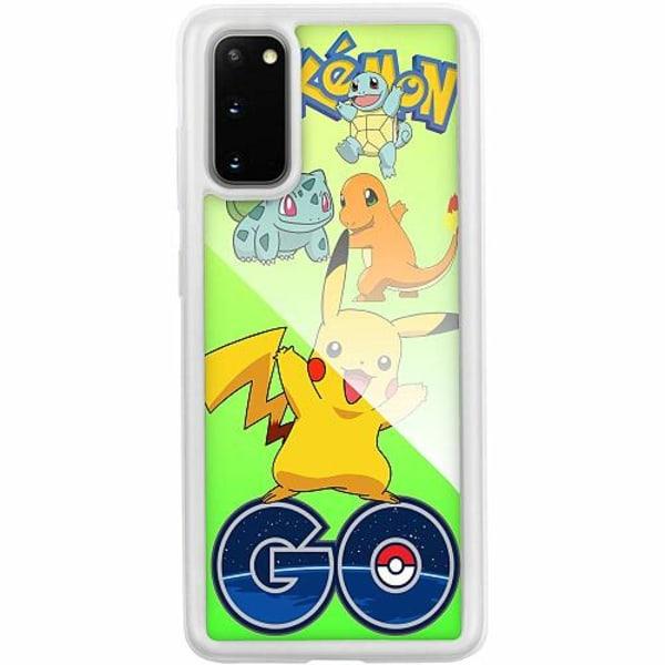 Samsung Galaxy S20 Transparent Mobilskal med Glas Pokemon