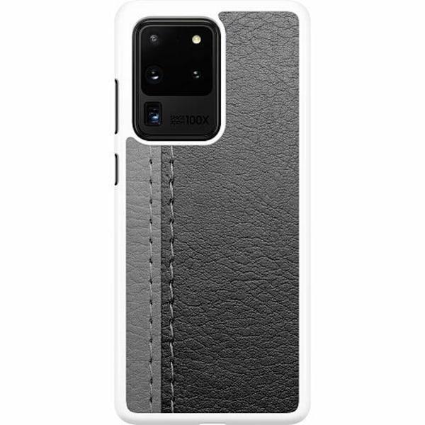 Samsung Galaxy S20 Ultra Hard Case (Vit) Black & Grey Leather