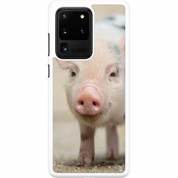 Samsung Galaxy S20 Ultra Hard Case (Vit) Happy Pig