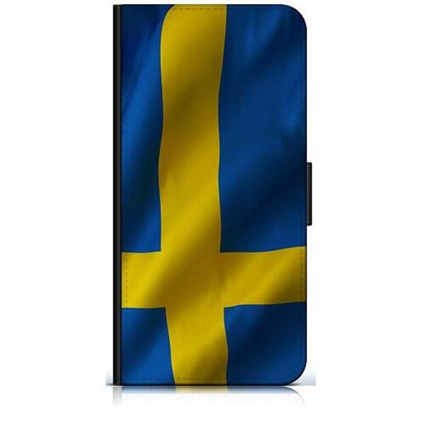 Apple iPhone 7 Plånboksfodral Heja Sverige / Sweden