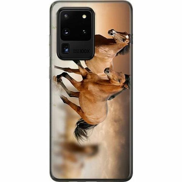 Samsung Galaxy S20 Ultra Mjukt skal - Hästar