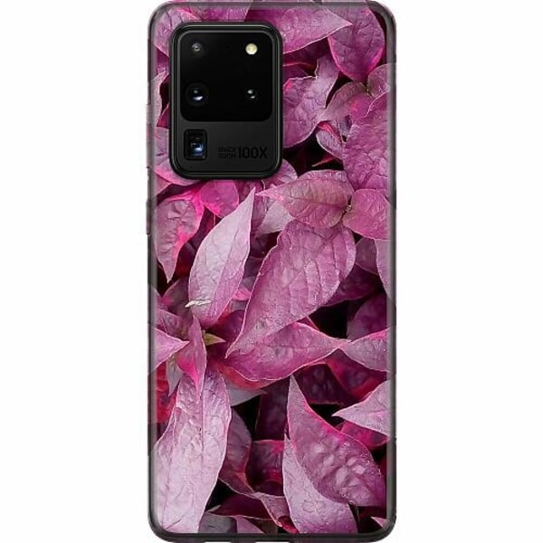 Samsung Galaxy S20 Ultra Mjukt skal - Pink Shrubs