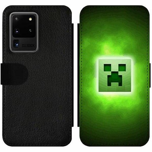 Samsung Galaxy S20 Ultra Wallet Slim Case MineCraft Rainbow