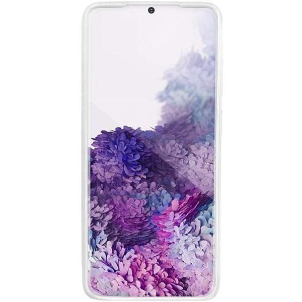 Samsung Galaxy S20 Vitt Mobilskal med Glas Fortnite Marshmello