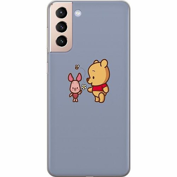 Samsung Galaxy S21 Mjukt skal - Happy Bear With Tiny Pig