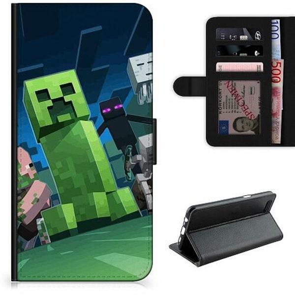Sony Xperia 5 Lyxigt Fodral MineCraft