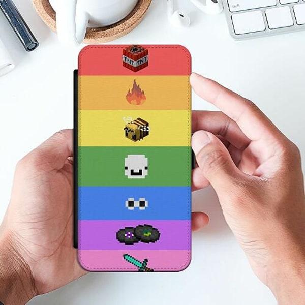 Apple iPhone 11 Pro Max Slimmat Fodral MineCraft Rainbow