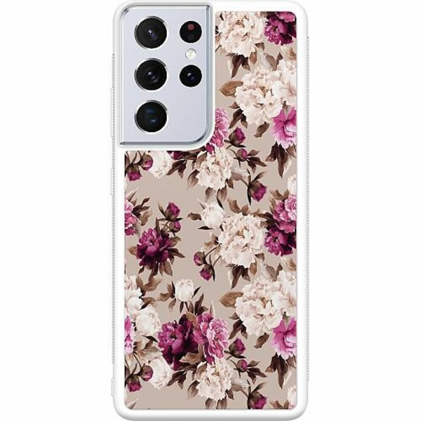 Samsung Galaxy S21 Ultra Soft Case (Vit) Efflorescent