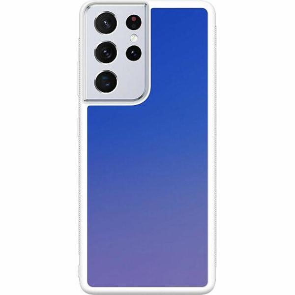 Samsung Galaxy S21 Ultra Soft Case (Vit) Pattern