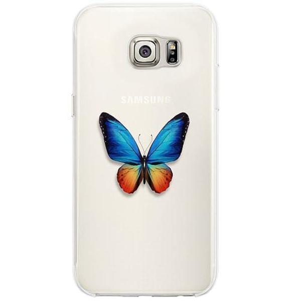 Samsung Galaxy S6 Edge Firm Case Fjäril