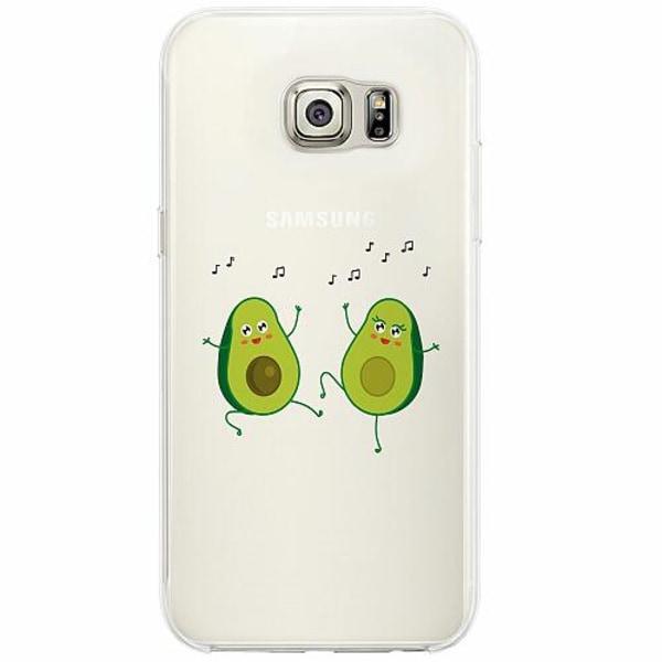 Samsung Galaxy S6 Edge Firm Case Avo-singing-cado
