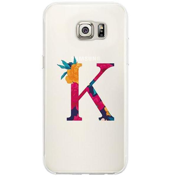 Samsung Galaxy S6 Edge Firm Case Bokstaven - K